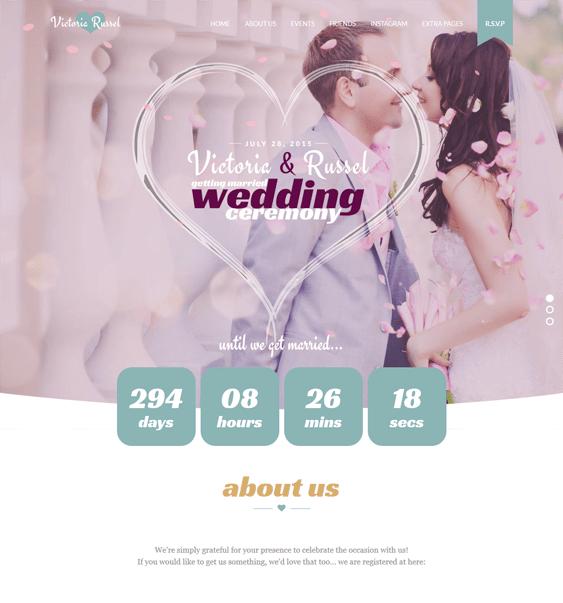 wedding fuchsia joomla templates events