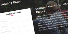 best landing page wordpress themes feature