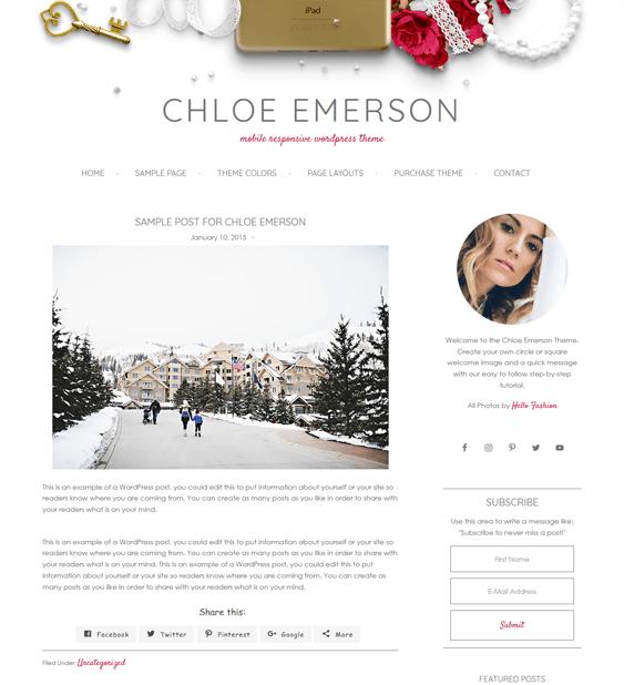 chloe feminine wordpress themes