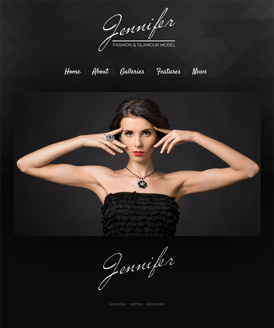 jennifer wordpress themes models modelling agencies