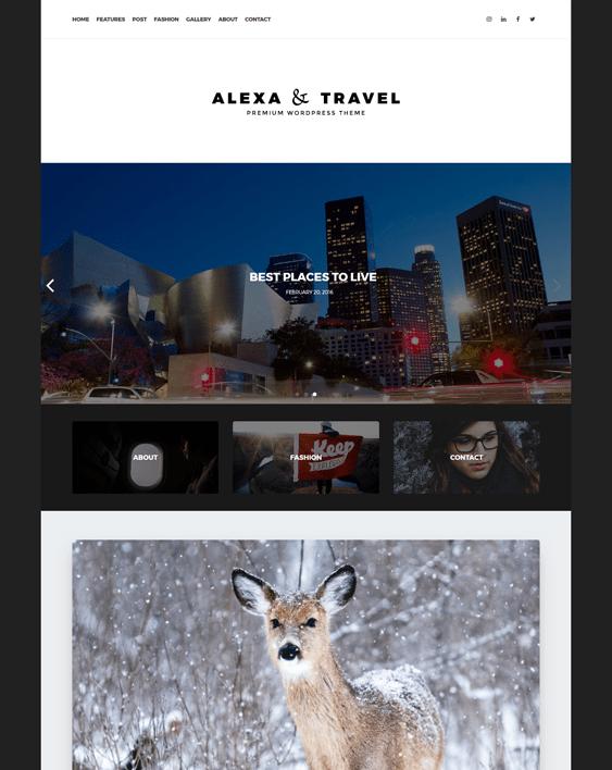 alexa travel wordpress themes