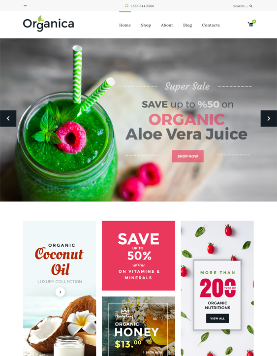 organica food drink wordpress themes