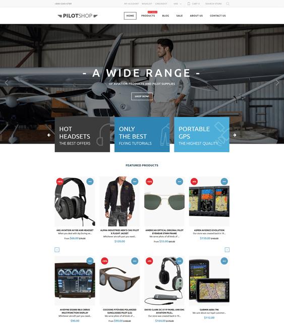 pilotshop responsive shopify themes 2017