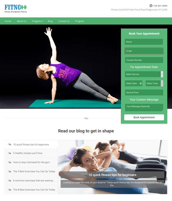 fitno gym fitness wordpress themes