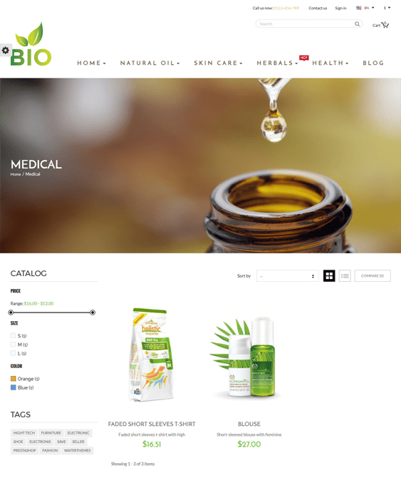 bio medical prestashop themes
