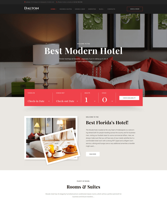 dalton hotel wordpress themes