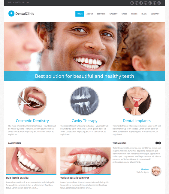 dentalclinic medical wordpress themes
