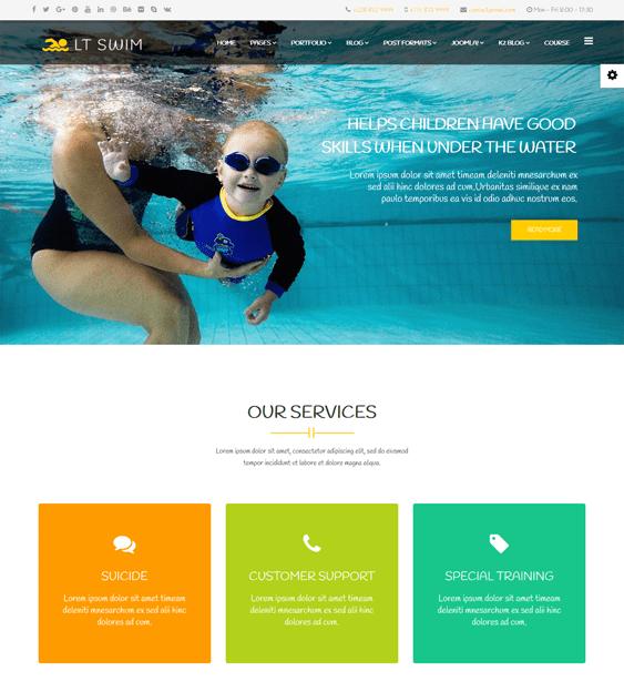 lt swim education joomla templates