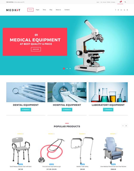 medkit medical wordpress themes