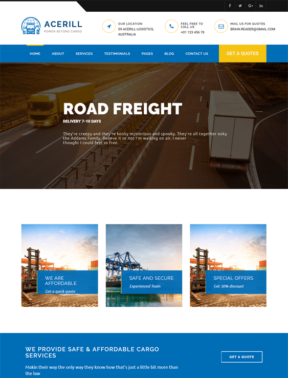 acerill transportation--logistics-wordpress-theme