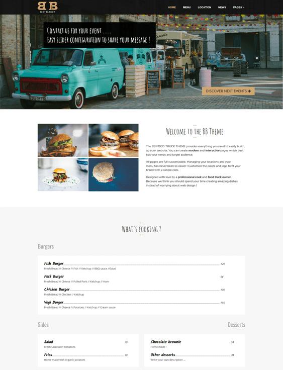 bb restaurant wordpress theme