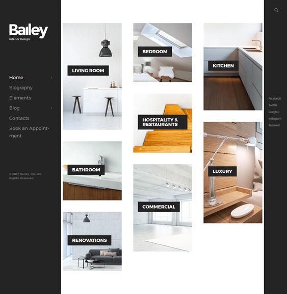 bailey furniture store wordpress themes