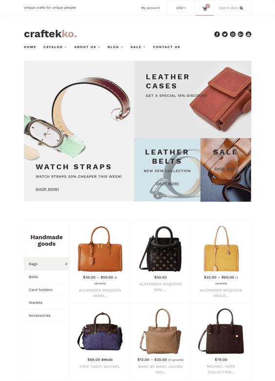 craftekko handbags purses shopify themes