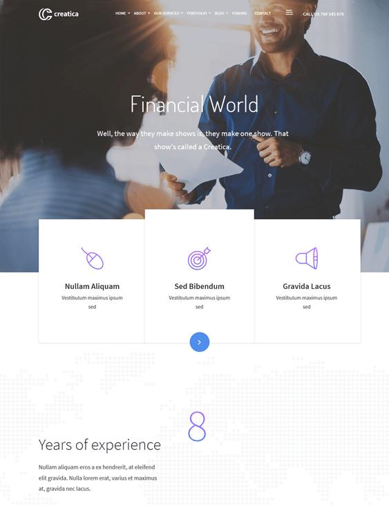 creatica finance wordpress themes