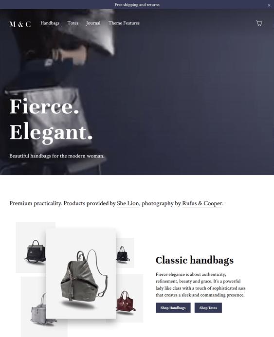 motion handbags purses shopify themes