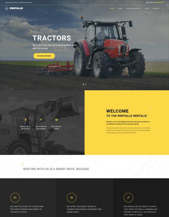 rentallo farm agriculture wordpress themes