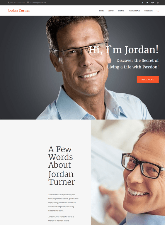 jordan life coach wordpress themes