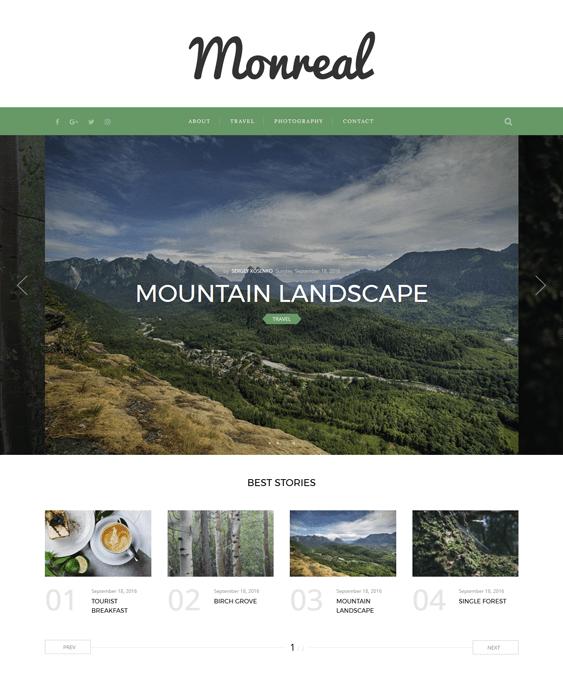 monreal travel wordpress theme