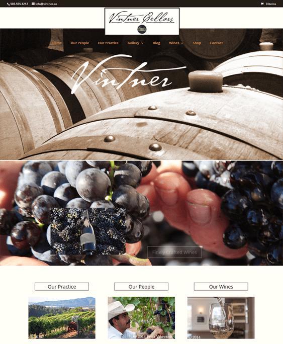 vintner food drink wordpress themes