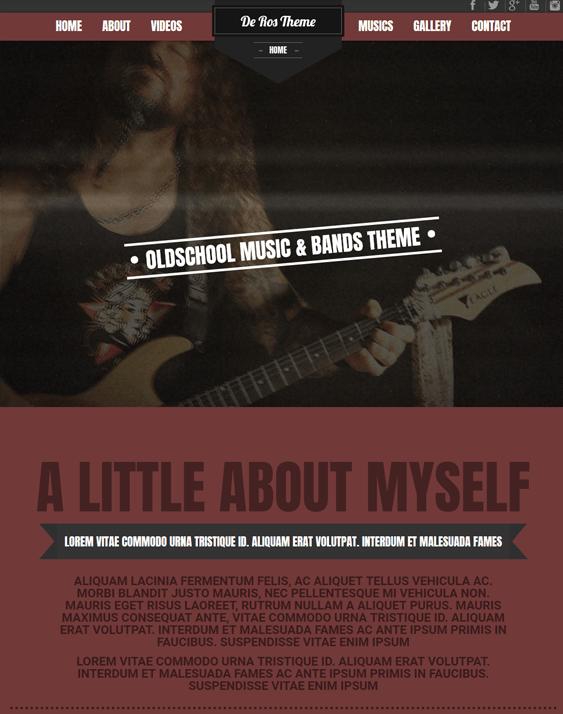 deros music WordPress theme