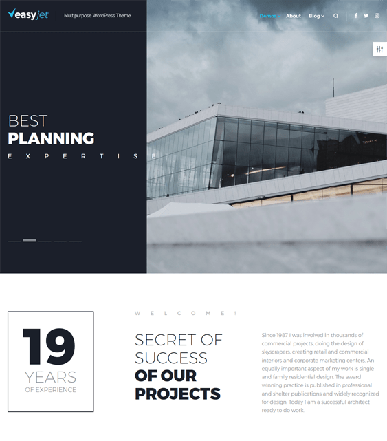 easyjet architect architecture firm wordpress themes