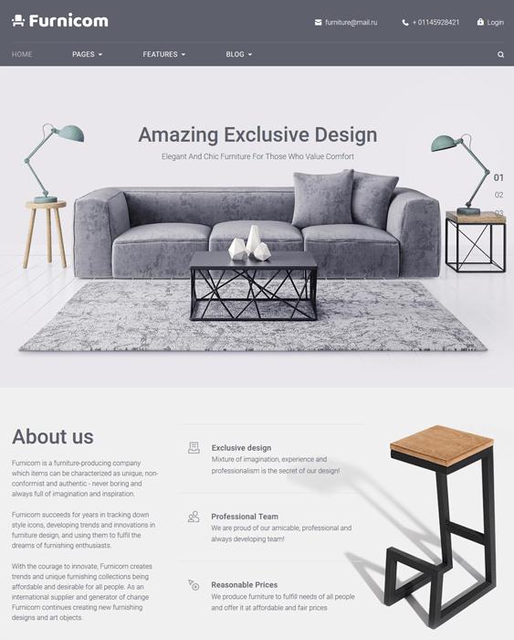 furnicom furniture wordpress themes