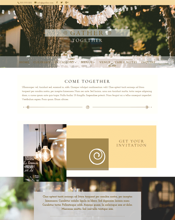 gather restaurant wordpress themes