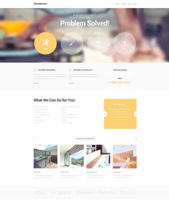 Handymans Promotion WordPress Theme
