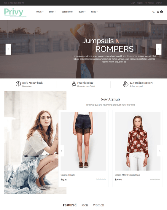 privy fashion shopify themes clothing stores