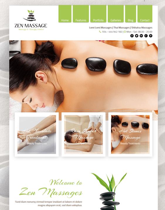 zen wordpress themes beauty salons spas