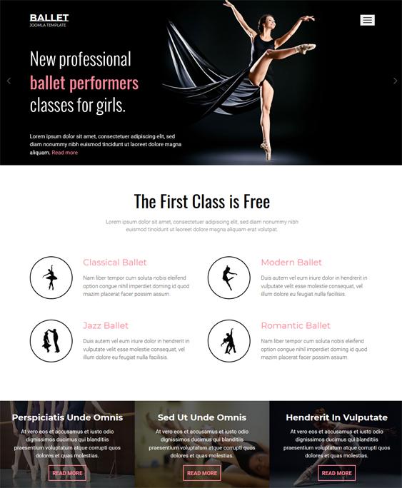 Dance Studio teacher Responsive Joomla Template
