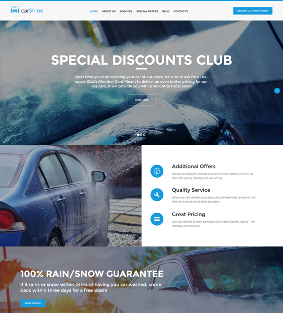 CarShine - Car Wash WordPress Theme