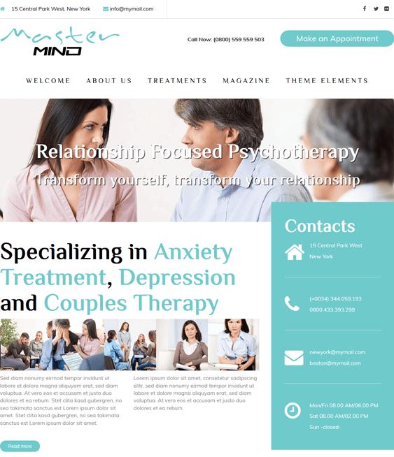 masterrmind counselors psychologists therapists wordpress themes