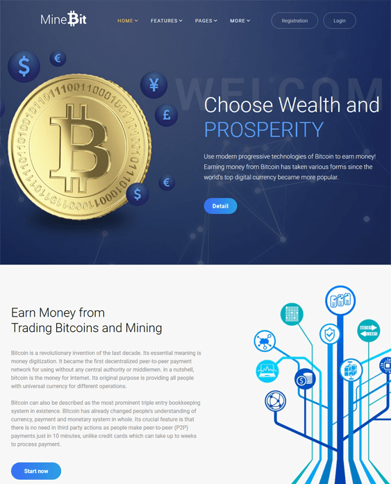 minebit bitcoin cryptocurrency websites wordpress themes