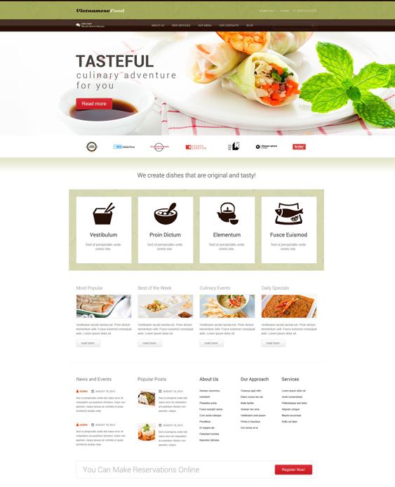 Asian Restaurant Responsive WordPress Theme
