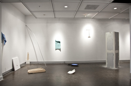 "Curtis Ames, installation view, ""unfictional,"" 2014, at GSU's Welch School Galleries."