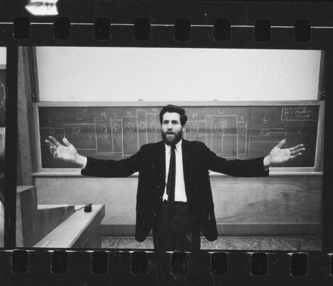 Allan Kaprow, Kaprow explaining Household, photographer unknown, Allan Kaprow Papers, © Research Library, The Getty Research Institute, Los Angeles.