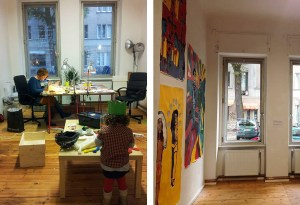 flexible workspace during the week = gallery + event space on the weekend