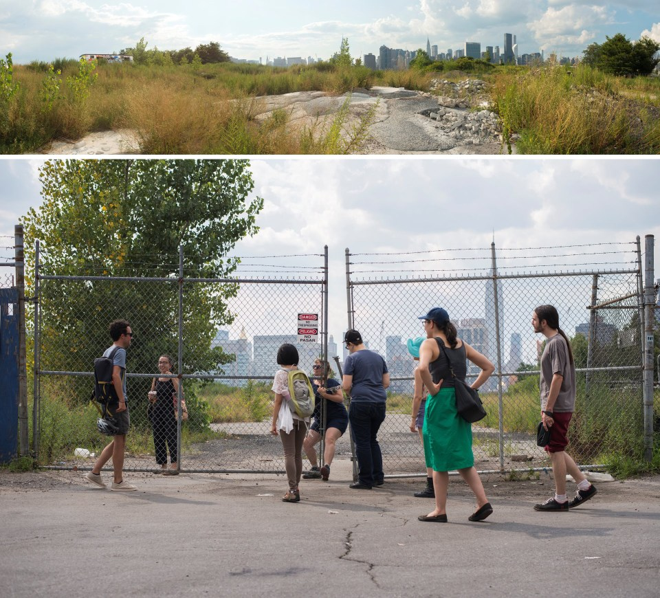 Top/Bottom: Walking Sutra: Hunters Point South by Anne Percoco, 2015 (Image courtesy of artist)