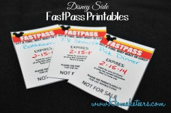 Disney Side FastPasses