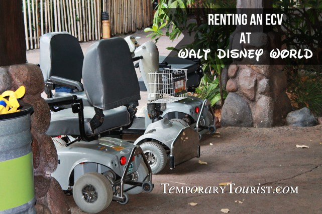 Renting an ECV at Walt Disney World