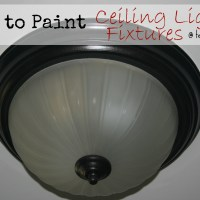 How to Paint an Old {Ugly} Light Fixture!