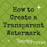 How to Create a Transparent Watermark!