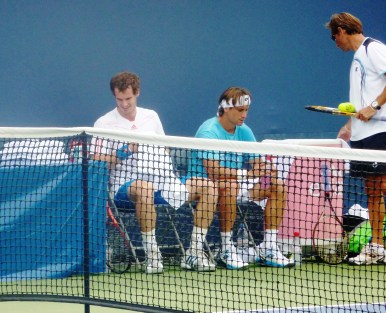 Ferrer and Murray practicing in Cincinnati
