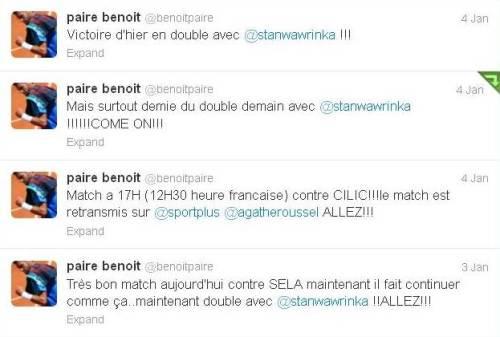 Benoit Singles Doubles