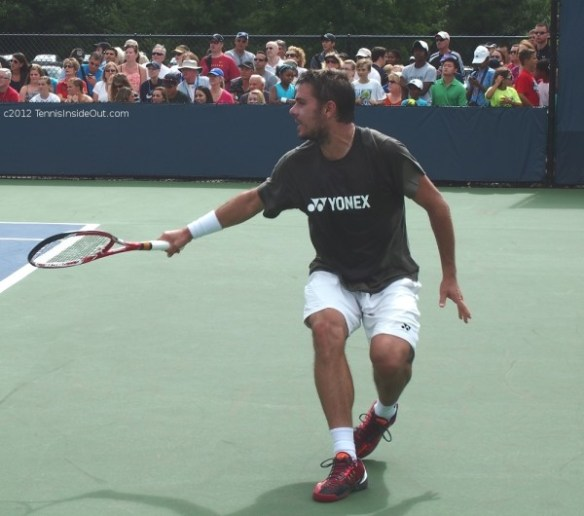 Stan Wawrinka one handed backhand BH practice shorts bulge pretty pictures photos Cincy tennis 2012