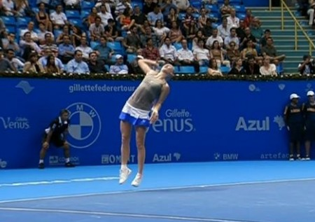 Brazil tour Caro serve leap pictures