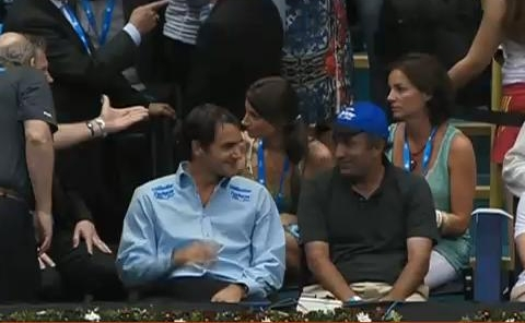 Roger Federer conversation Fed Brazil Gillette tour pictures