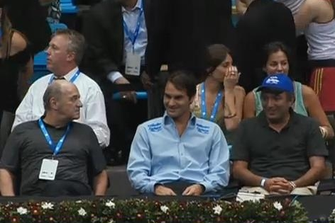 Roger audience Caro Maria match Brazil Federer Gillette tour pictures
