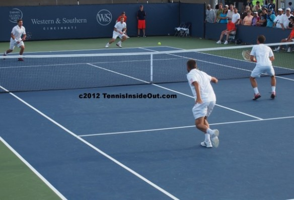 Cincinnati Open pictures photos Stan Wawrinka Jarkko Nieminen Mikhail Youzhny Philipp Kohlschreiber doubles white kits shorts shirts